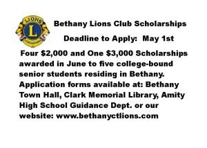 Bethany Lions Scholarship